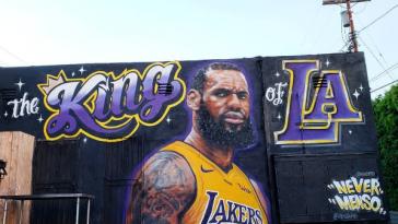 lebron james mural